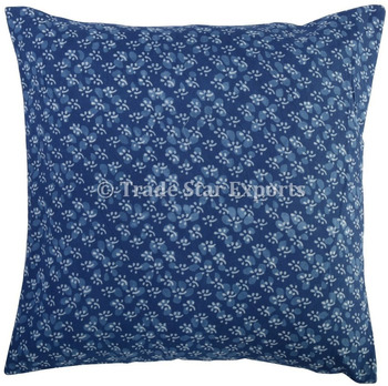 100% Cotton cushion covers Indian hand block custom print throw pillow  cover case 39d663351
