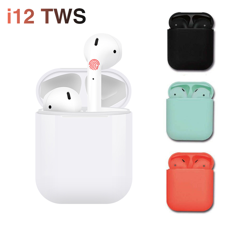 2019 Pabrik Cina Mini Tws Benar Wireless Earphone Sampel Gratis OEM Harga Wireless Earbud I12 Tws Sentuh Gaming Headset