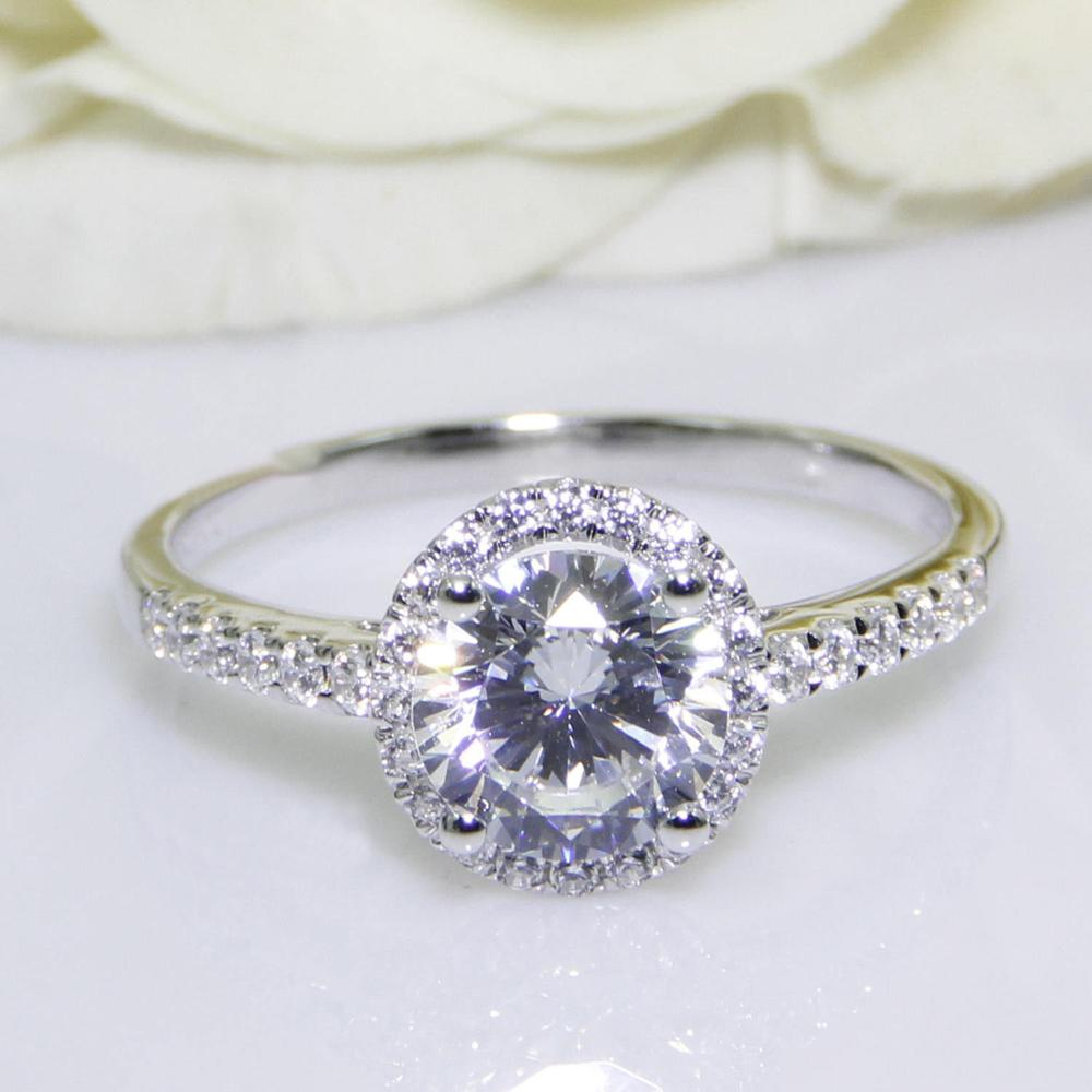 Diamond Smart Raw Golden/white Natural Diamond 925 Sterling Silver Engagement Ring Size 7.5 Skilful Manufacture Jewelry & Watches
