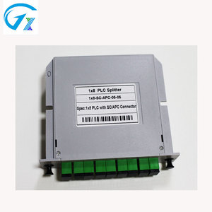 High Quality FTTH 8 way Card Insertion Type 1x8 LGX Outdoor Fiber Optical Splitter with SC / APC Connectors