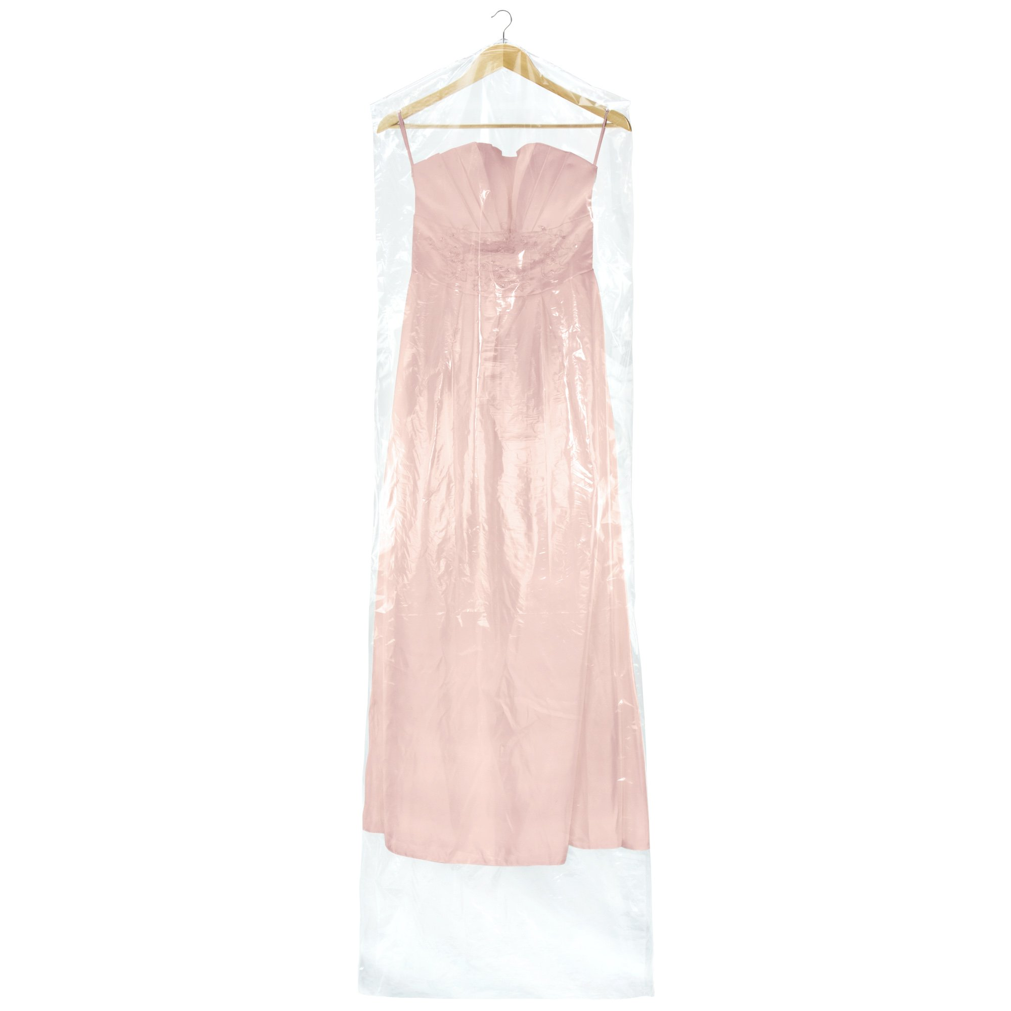 Buy Hangerworld Pack of 6 Clear Polythene Full Length Gown Dress ...