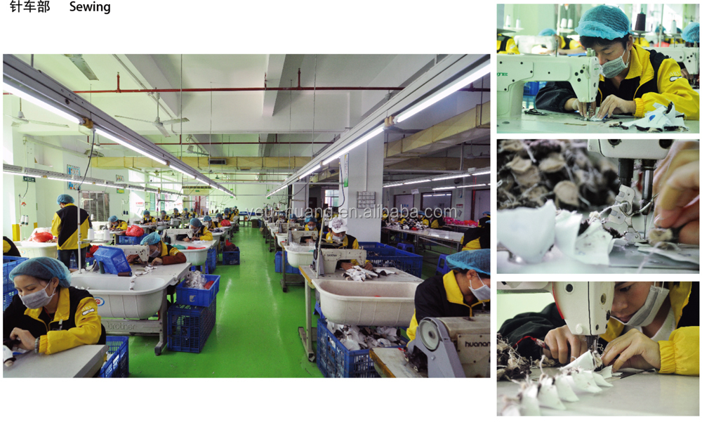 Custom plush animal head slippers maker supplier factory manufacturer