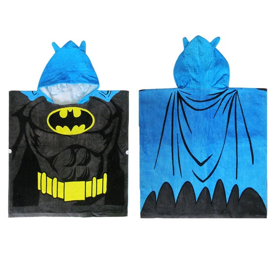 100% Cotton batman hooded baby bath <strong>towel</strong> batman superman children <strong>towel</strong>