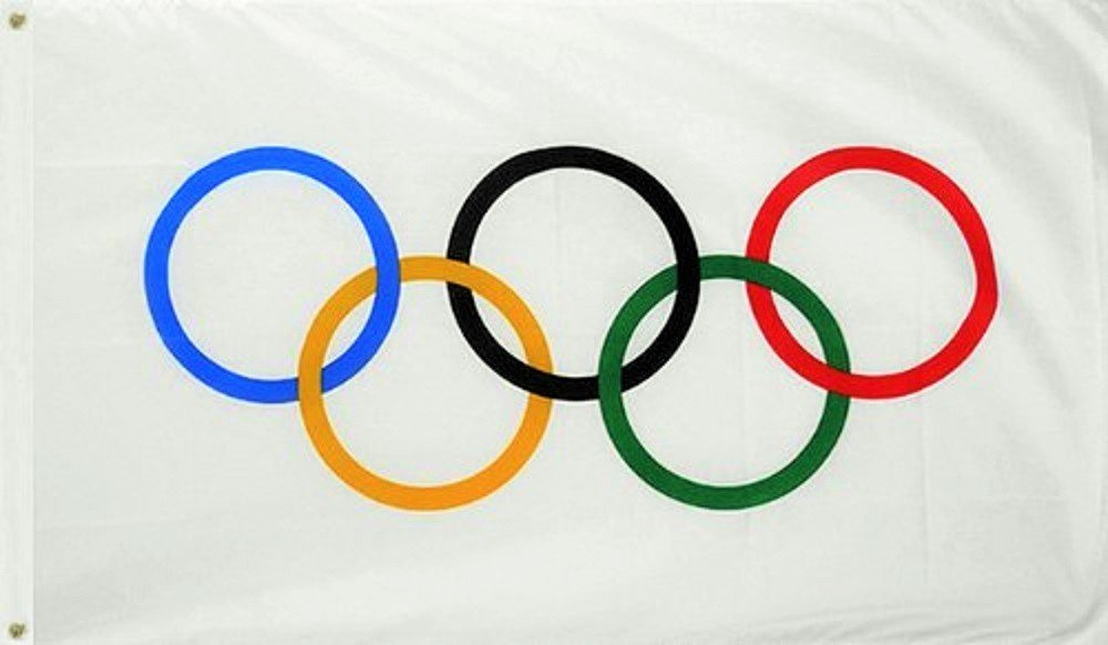 Olympic Games 3x5 Feet Flag Olympic Rings International Banner Printed Flag with Grommets by TrendyLuz Flags