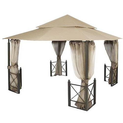 Garden Winds Replacement Canopy for the Harbor Gazebo - Riplock 500 Performance Fabric