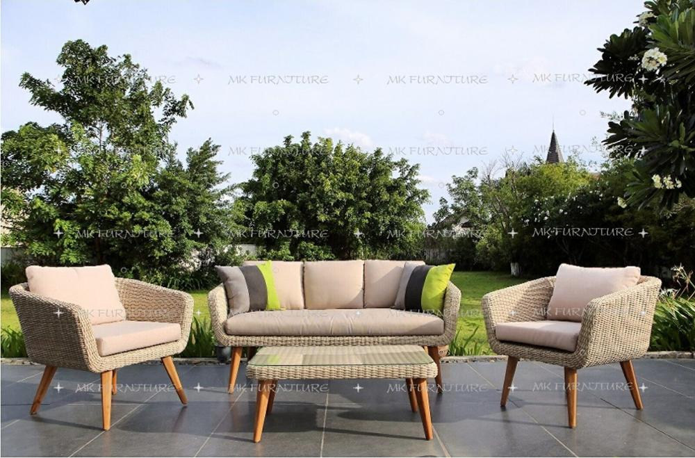 outdoor furniture patio. Kayu Jati Sintetis Pvc Pe Anyaman Rotan Taman Luar Sofa Set Furniture-Patio Outdoor Furniture Patio