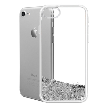 competitive price b8199 c65e1 Best Selling Mobile Phone Clear Transparent Tpu Wallet Case For Iphone 8 7  6s 6 Plus With Silver Liquid Glitter Wholesale - Buy Silicone Phone ...