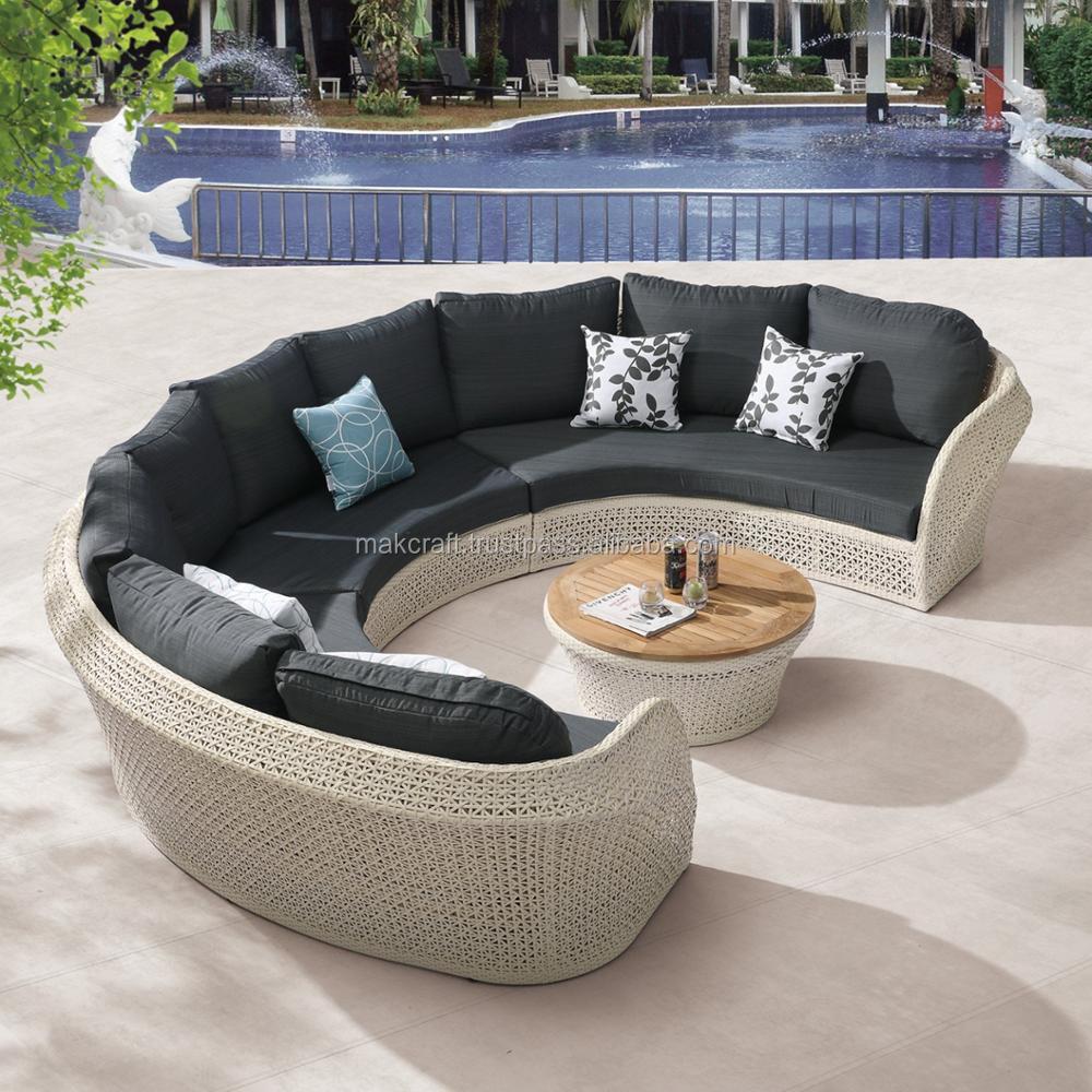 Royal Wicker Rattan Sofa Outdoor Circle Round Chaise Lounge Sofa Set For  Patio Garden Furniture - Buy Garden Sofa Set,Outdoor Rattan Furniture,Patio