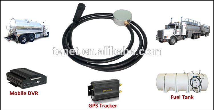 Ultrasonic Fuel Level Sensor for Anti-Fuel Theft, RS232/RS485 Signal Output