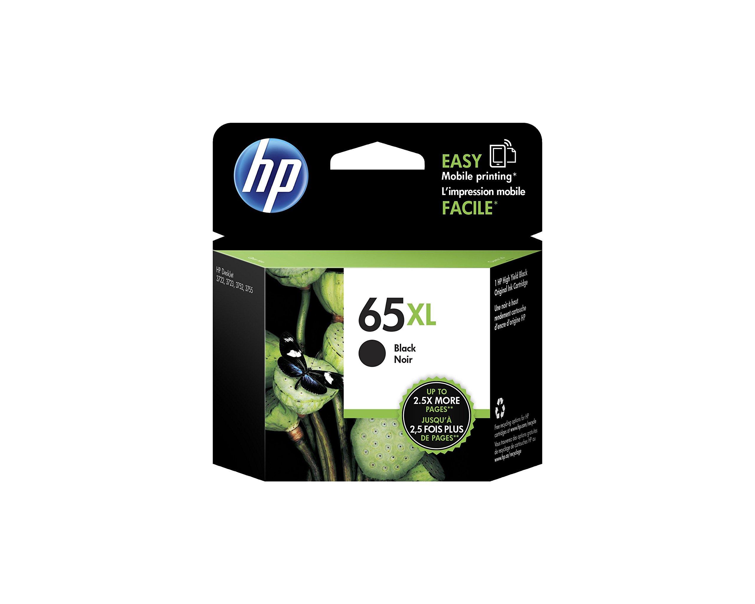 HP 65XL Black High Yield Original Ink Cartridge (N9K04AN)