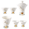 Delicate Design White Ceramic Fair Porcelain tea cups set with tea pot