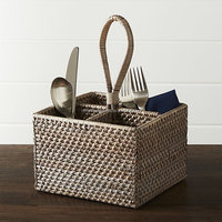 Colored kitchen accessories made from natural rattan/ condiment caddy