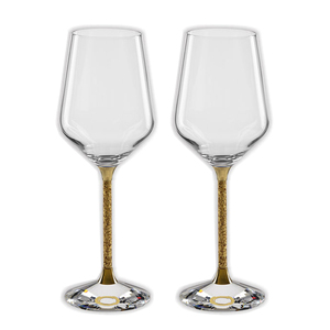 Gold Stem Handmade Goblet White Wine Glasses Stemware Wine Glass