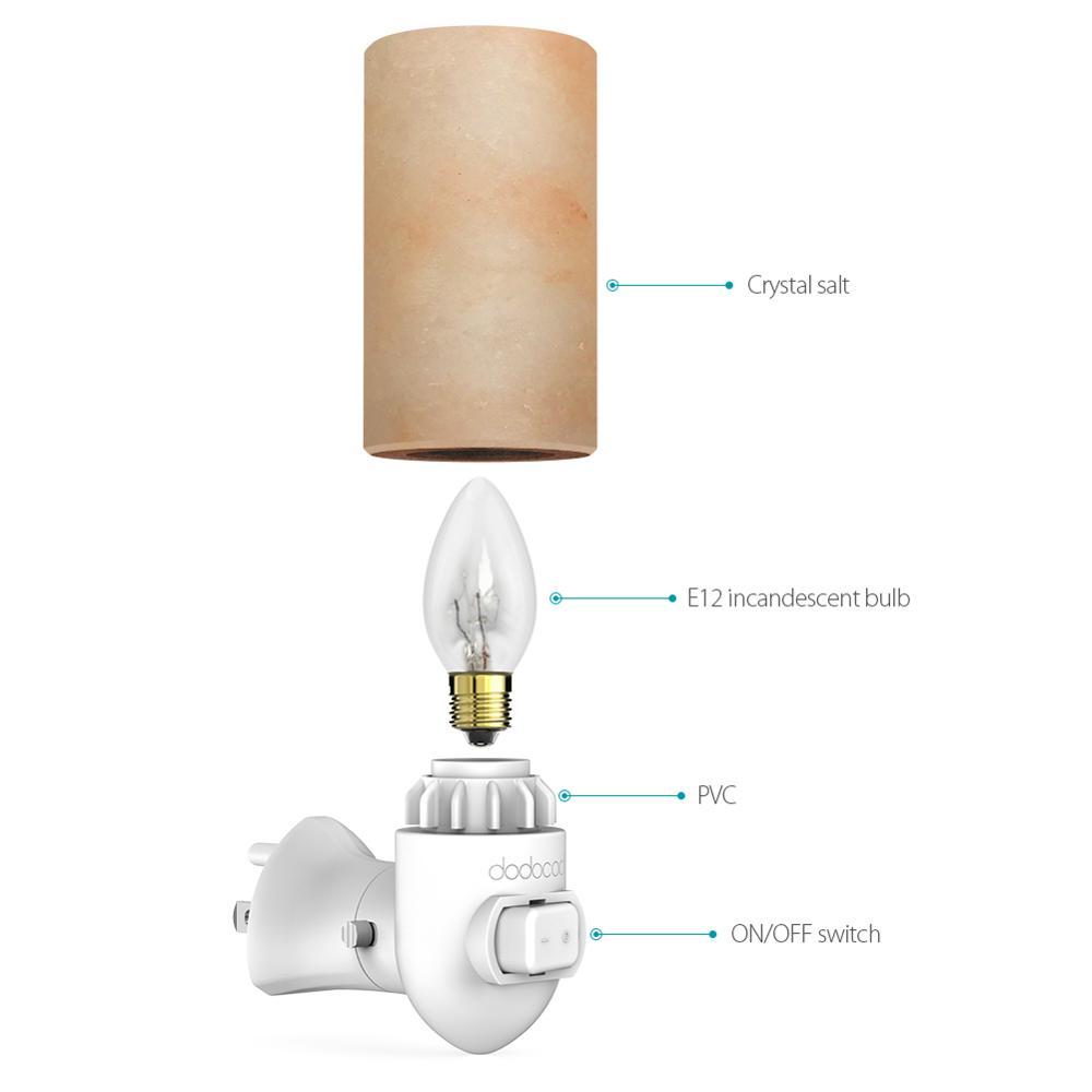 De l/'Himalaya cristal sel lampe de nuit Lampe de bureau naturel Ioniseur Sel Lampe Salt Rock