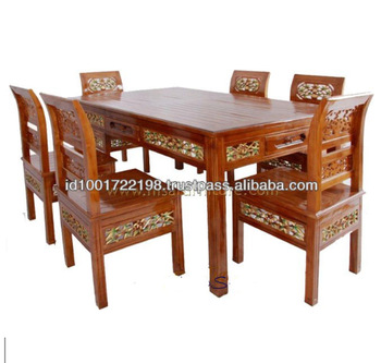 6 Chairs Wooden Carved Furniture