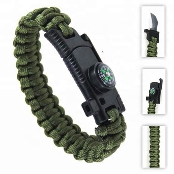 Multi-functional Survival Gear Para cord Lanyard Bracelet, Camping Paracord Survival Bracelet with Knife