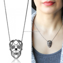 Wholesale 925 Sterling Silver Origami Skull Head Design Pendant Jewellery for Women