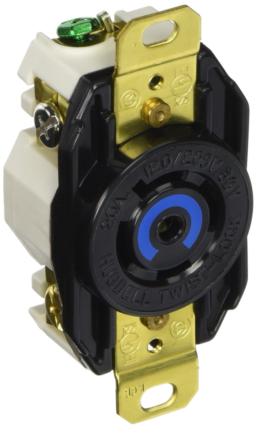 Cheap 208 3 Phase Wiring Find Deals On Line At What Is A Three System Get Quotations Hubbell Systems Hbl2510 Nylon Face Twist Lock Receptacle 20 Ampere