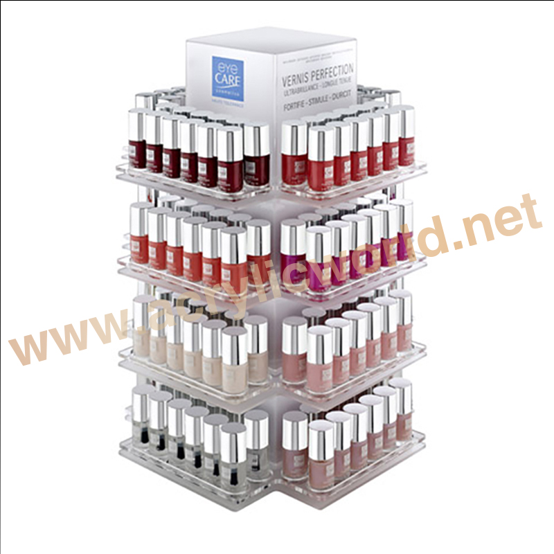 plastic display makeup tray/nail polish display/lipstick display stand
