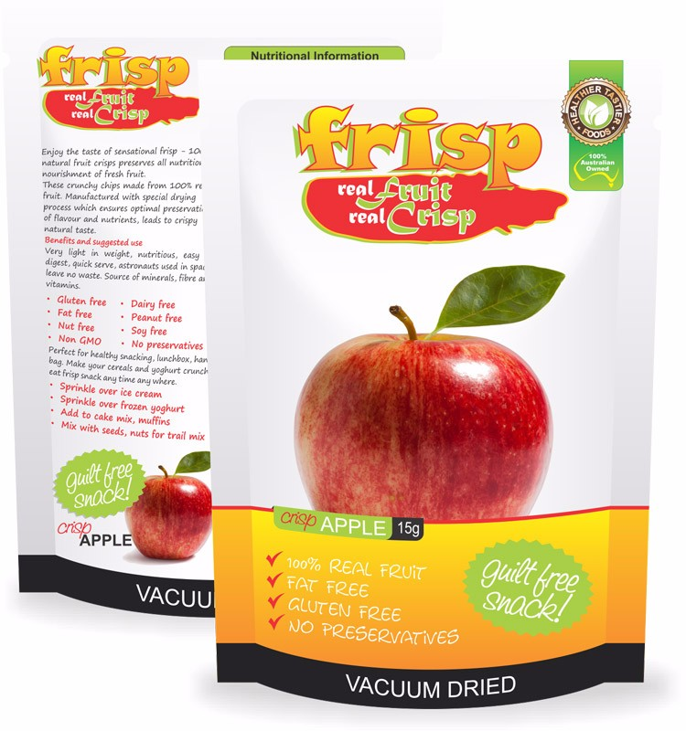 100% Real Fruit Crispy Organic Dried Apple Chips