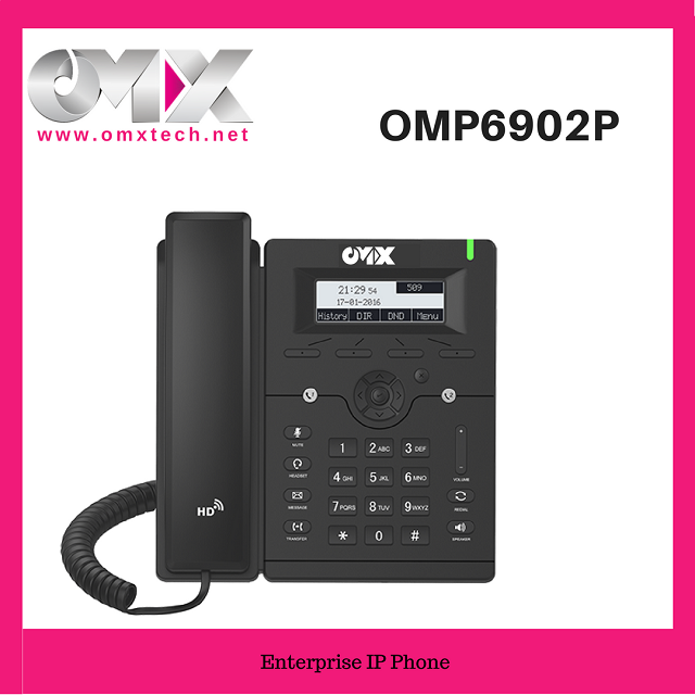 2 SIP accounts Smart HD Voice POE Entry Level IP Phone