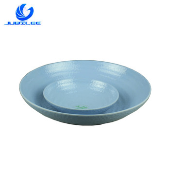 Personalized Custom Decorative Pattern Pattern Light Blue Restaurant Melamine Bowls