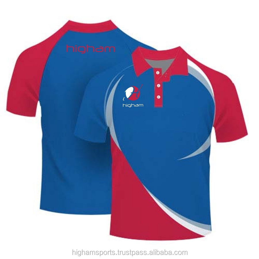 Mens Cool Sublimation Tennis Sports Polo Custom Made T Shirts