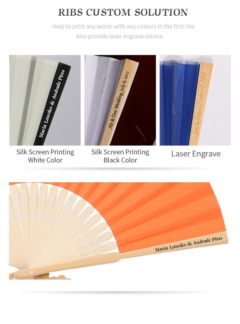 Souvenir Wedding Favors Personalized Abanico Hand Fan For Wedding ...