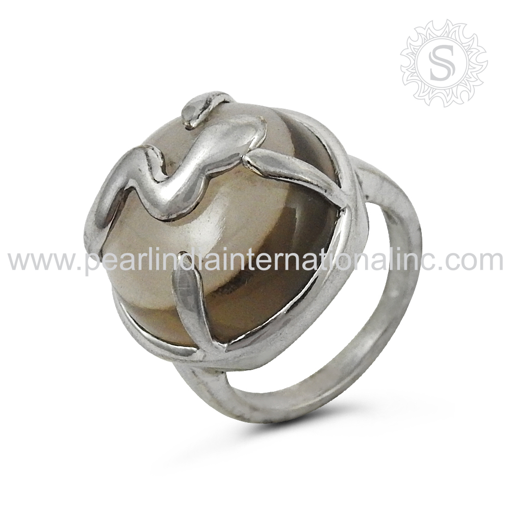 Beautiful quartz gemstone silver ring jewellery 925 sterling silver engagement ring handmade jewelry supplier