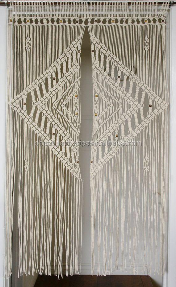 Large Macrame Curtain Wedding Curtains - Buy Large Macrame Curtain Wedding Curtains,Macrame