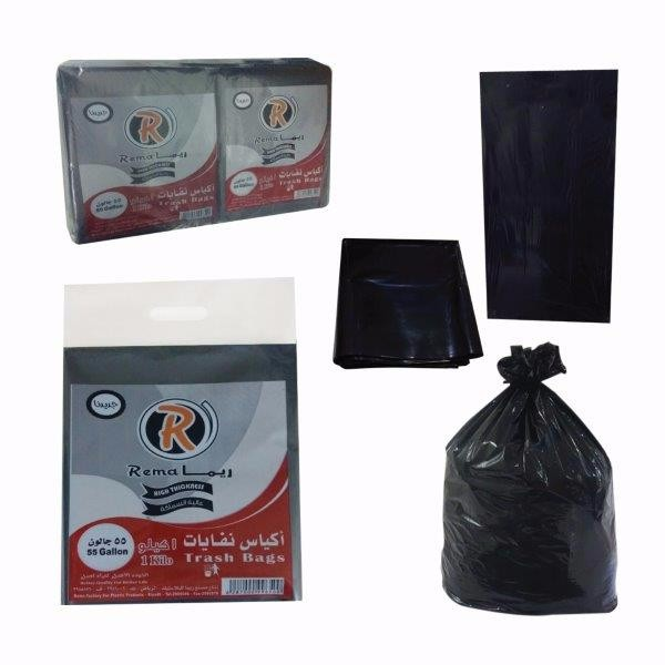 High Thickness 55 Gal Trash Bags In Flat LDPE
