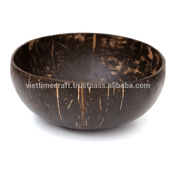 Natural Coconut shell bowl and spoon, Vietnam coconut bowls set for cooking