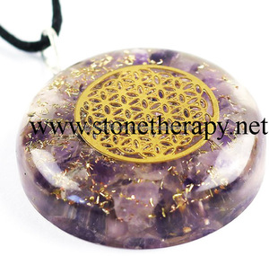 Latest Amethyst Orgone flower of life Pendants | Best Quality Orgone Pendants from India