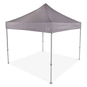 Impact Canopy 10x10 Instant Pop up Canopy Tent, Commercial Grade Aluminum Frame, Roller Bag, Grey