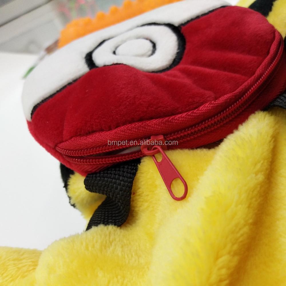 犬服子犬猫服かわいいポケモンピカチュウ漫画衣装ペットコート冬で
