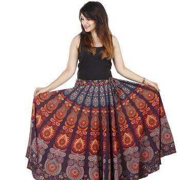 5f7b471a2 Hecho A Mano Indio Mujeres Pavo Real Étnico Mandala Diseño Alrededor Del  Vestido Hippie Boho Falda De Algodón - Buy Mujeres Hechas A Mano Mujeres ...