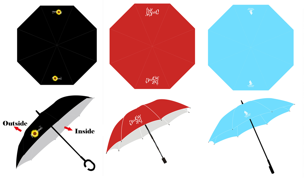 custom design umbrellas