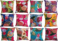 Wholesale lot of 100 pieces Handmade tropical kantha cushion cover sham traditional rajasthani indian cushion cover