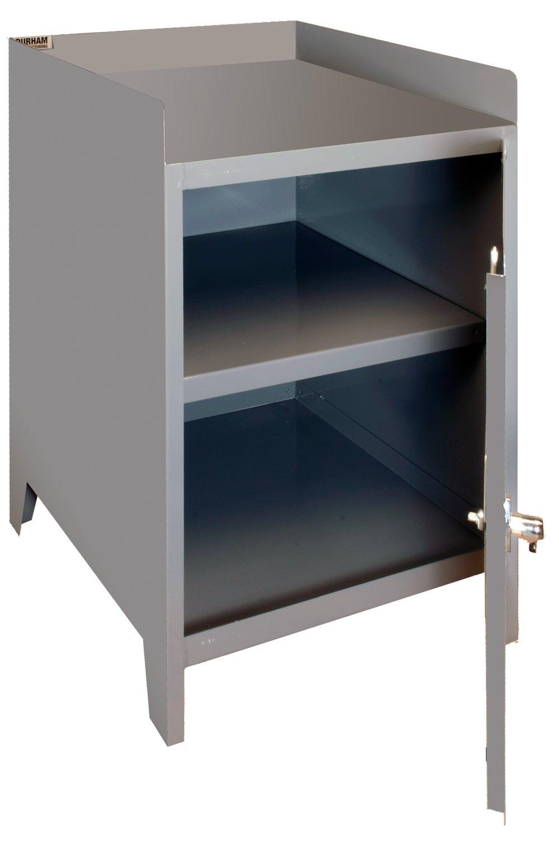 Durham 3010-95 Gray 14 Gauge Welded Steel Table High Heavy Duty Secure Storage Cabinet, 1 Shelf