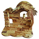 olive wood hand made nativity stable/olive wood Christmas stable
