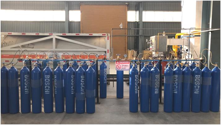 Industriale/Medico di Gas di Ossigeno Impianto e di Azoto Pianta con Sistema di Riempimento del Cilindro