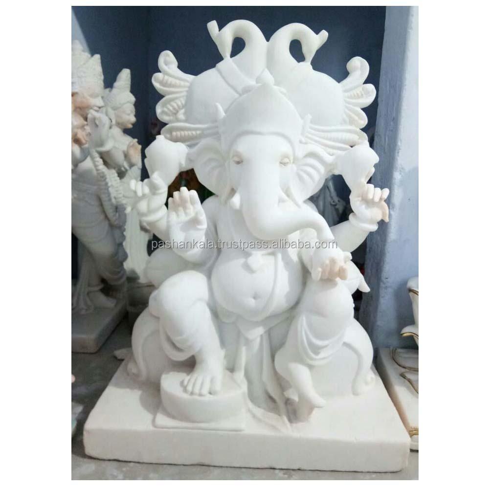 White Marble Ganpati Ji Statue Buy Marble Idol Ganesh Lord