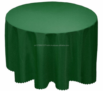 Dark Green PLAIN SOLID TABLECLOTH CLEAN ROUND CIRCULAR TABLE CLOTH 173CM  ROUND 68u0026quot;   UK