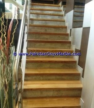 Fine Quality Marble Stairs Steps Risers Teakwood Burmateak Marble