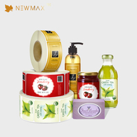 Low MOQ Plastic Shrink Wrap Bottle Printing cosmetics private label for packaging