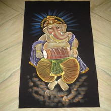 new hindu god ganesha printed wall hanging for wholesale