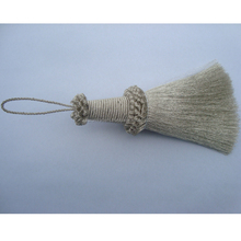 custom high quality metallic tassel for curtain tassels window blind pull cords