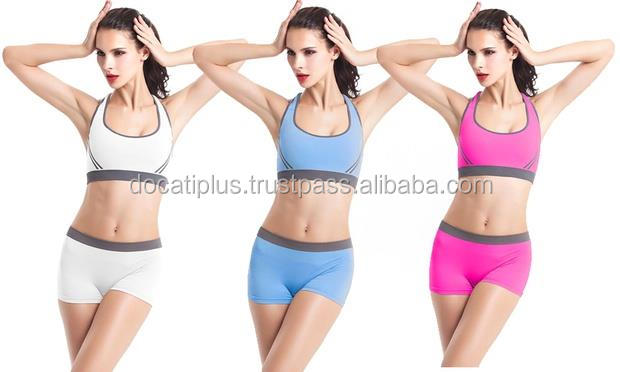 high quality fitness yoga sets sports bra and shorts,polyester and spandex yoga pants for training