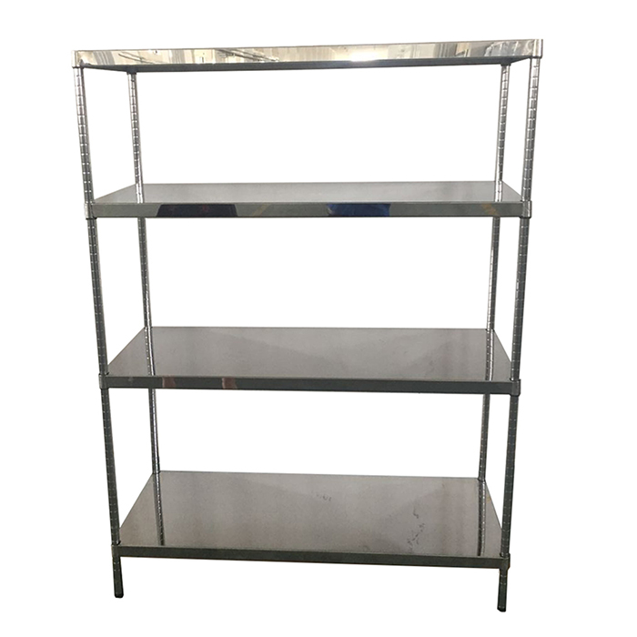 Light duty angle steel slotted storage rack