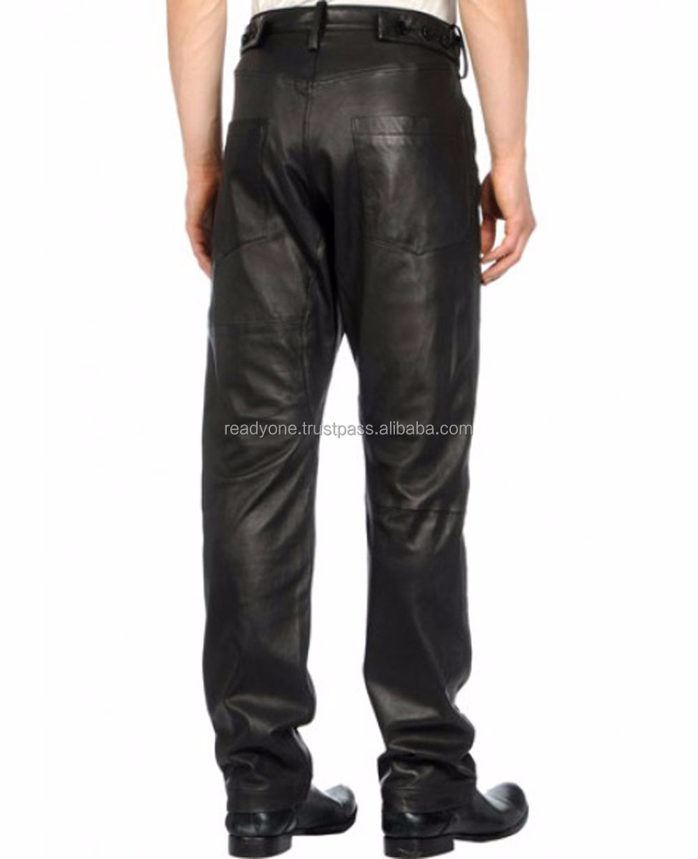 wholesale high quality PU custom made, popular fancy mens leather pants